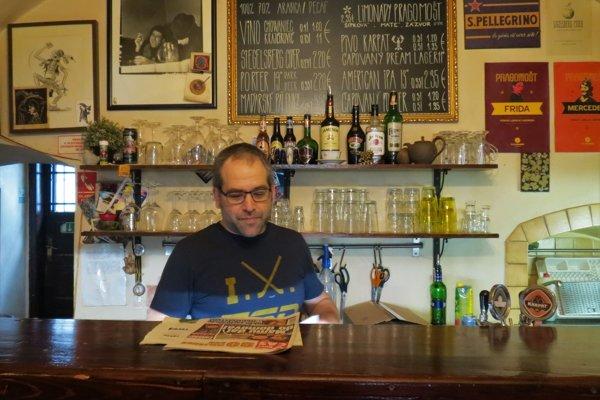 Ben Pascoe at his café, the place where locals go.