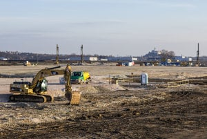 The site near Nitra where the new strategic park will stand.