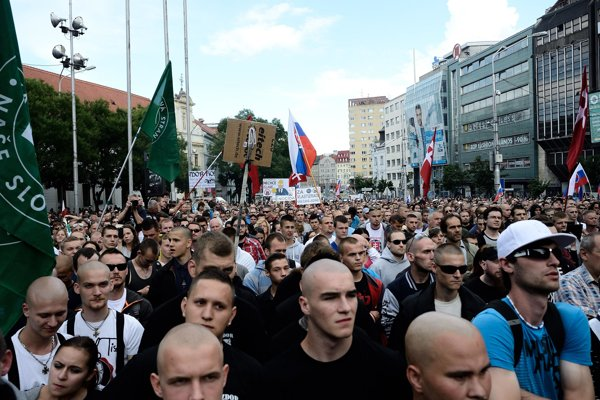 Bratislava saw extremists protest in June