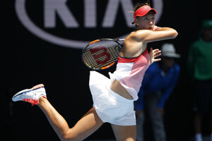 Slovak Mihalíková plays at Austrlaian Open.