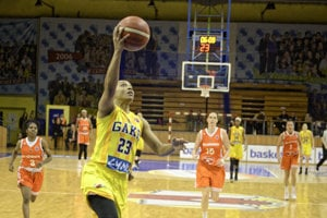 Darxia Zenobia Morris of Good Angels Košice during a match against Ružomberok.