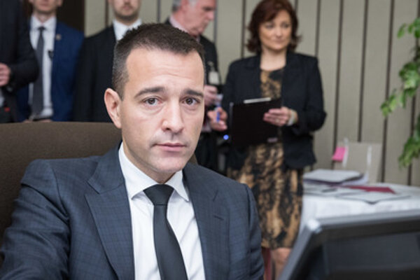 Interior Minister Tomáš Drucker, during the April 11 cabinet session.