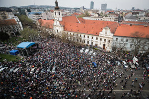 The April 15 protest in Bratislava