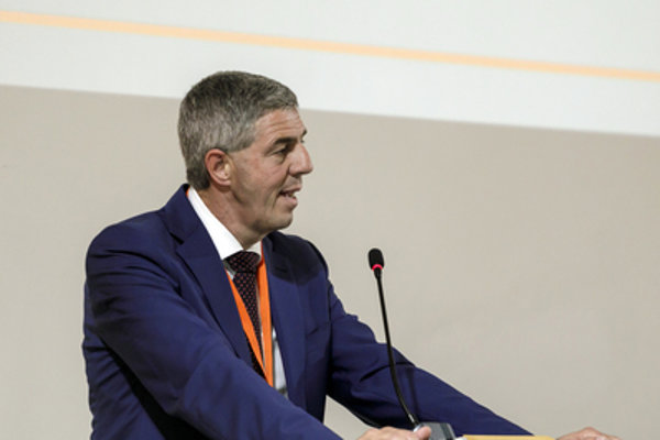 Béla Bugár at the Most-Híd congress in 2018.
