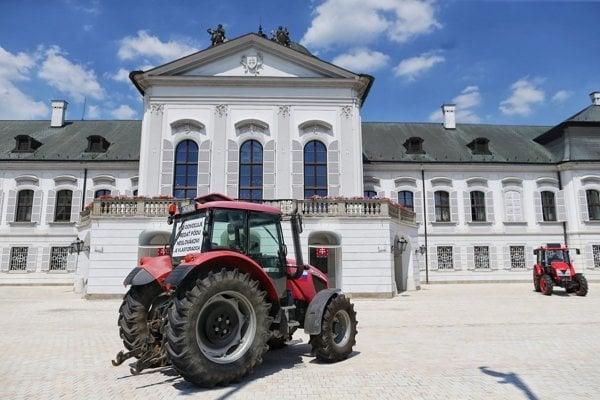 Farmers also met President Andrej Kiska in Bratislava
