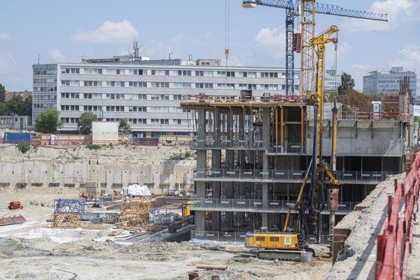 New construction on Mlynské Nivy Street.