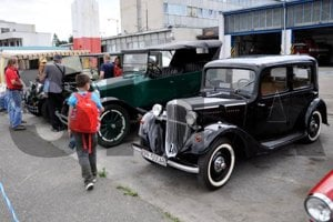 Vintage cars in Poprad
