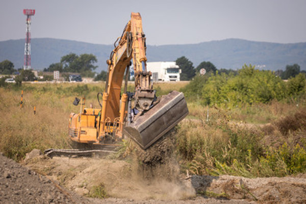 Works on the Triblavina highway junction resumed August 7.