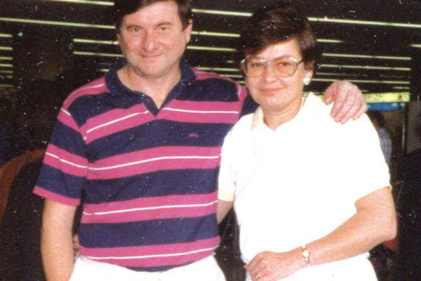 An older picture of Dušan Daučík and his, now late, wife Mária.