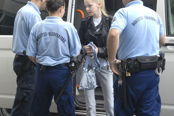 Varholíková left the Hungarian prison, illustrative stock photo.