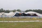 The damaged tent hit or put at risk at least 300 people back in 2009.