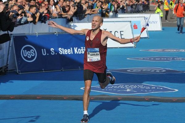 The best Slovak, Tibor Sahajda, at International Peace Marathon Košice 2018.