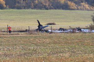 The Albatros military plane crashed near Sliač, October 10.