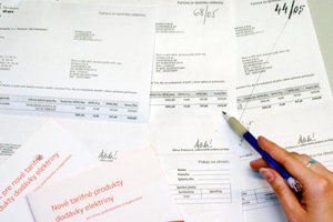 Invoices, illustrative stock photo