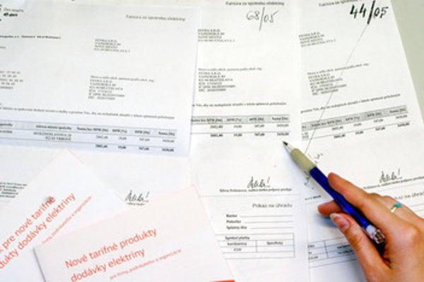 Invoices, illustrative stock photo
