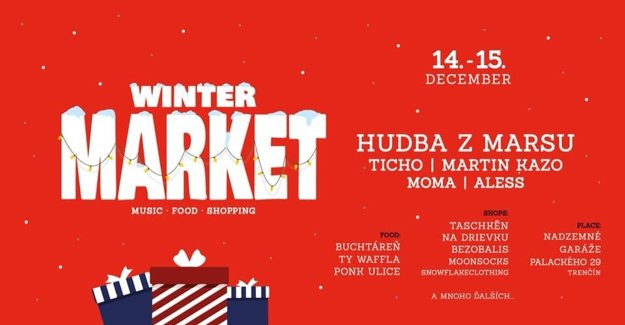 Winter Market held on a roof car park.