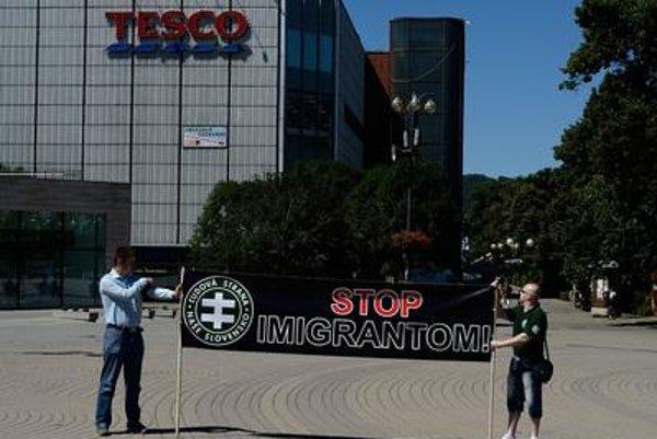 Anto-migrant protest in Žilina