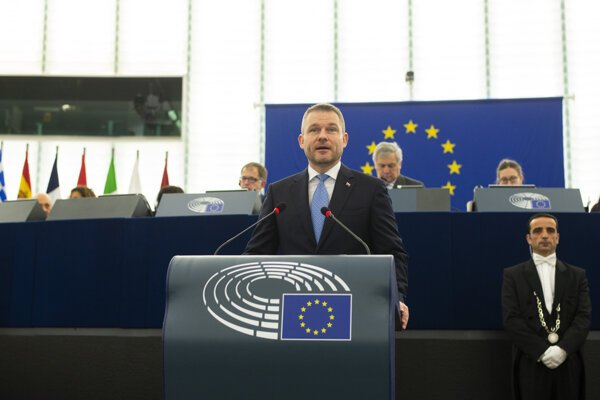 PM Peter Pellegrini at the European Parliament session in Strasbourg.
