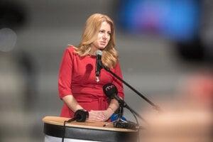 Zuzana Čaputová, the winner of the first round of presidential elections in Slovakia