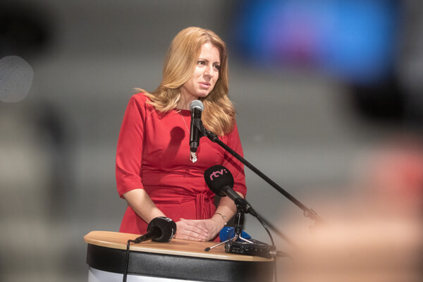 Zuzana Čaputová, the winner of the first round of presidential elections in Slovakia