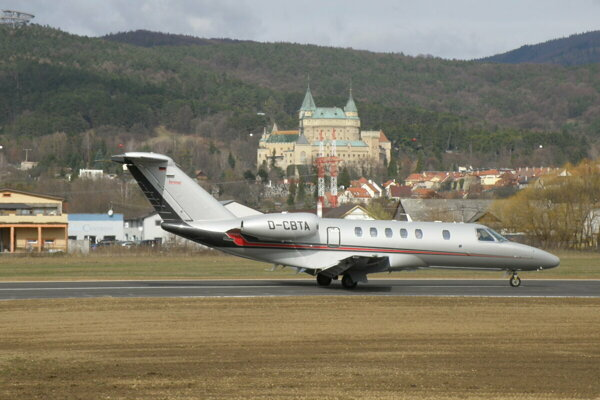 Two aircraft from Germany landed during the reopening of Prievidza Airport.