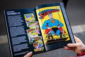 One of the 1943 Superman issues, which John Sikela helped co-draw.