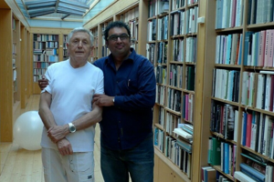 Film directors Jiří Menzel (left) and Shivendra Singh Dungarpur (right).