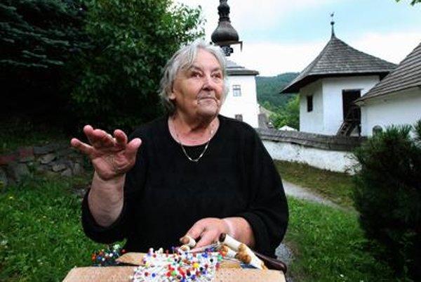 Františka Šnágerová, famous lace-maker from Špania Dolina