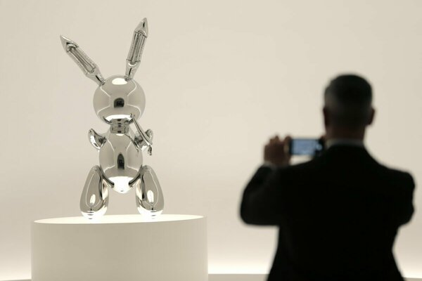 Jeff Koons' 'Rabbit' sculpture was auctioned for more than €81 million.