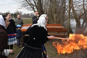 Burning the Morena effigy in Piešťany