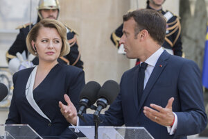 President Zuzana Caputova met French President Emmanuel Macron during her official visit to France on July 24.