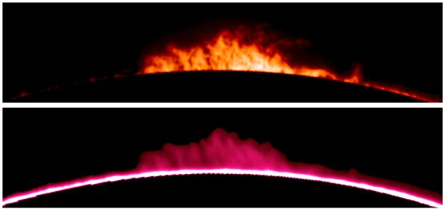 Images of solar prominences