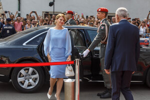 Slovak President Zuzana Čaputová met with her Austrian counterpart Alexander Van der Bellen.