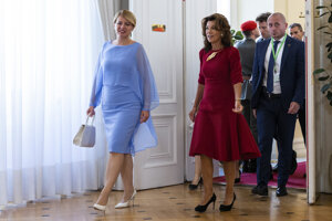 President Zuzana Čaputová met with Austrian Chancellor Brigitte Bierlein.