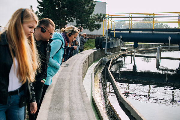 At the waste water treatment plant in Petržalka