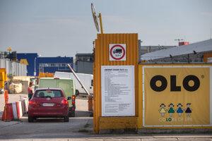 OLO's waste-collection yard at Stará Ivánska Cesta 2