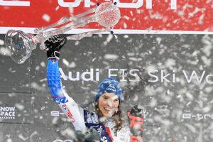 Petra Vlhová won the slalom race in Flachau, Austria.