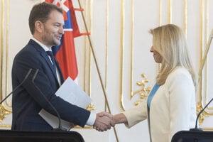 Igor Matovič and Zuzana Čaputová