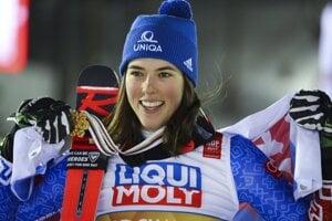 Petra Vlhová after winning the giant slalom at 2019 Alpine World Ski Championships in Are, Sweden.