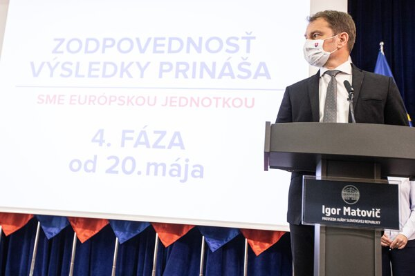 PM Igor Matovič (OĽaNO) when introducing the 4th phase.