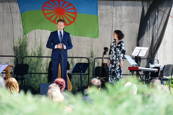 PM Igor Matovič (OĽaNO) commemorated the Roma Holocaust at the event held in Banská Bystrica.
