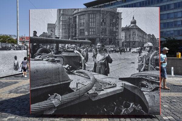 IN PICTURE: The 'August 1968 Invasion' exhibition by Josef Koudelka and Ladislav Bielik in Bratislava in 2018.