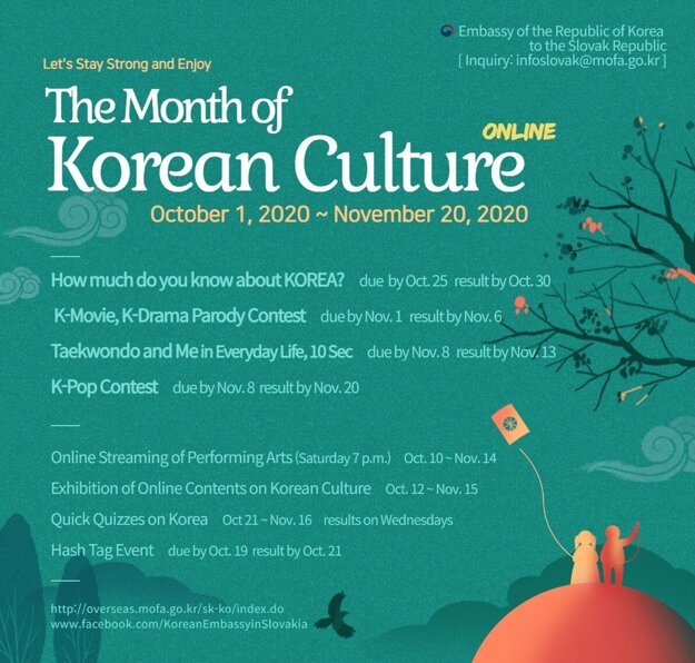 The program of this year's Korean Culture Month.