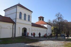 Coronavirus testing at the Budatín Castle in Žilina.