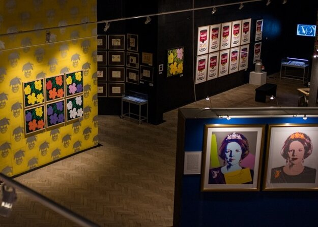 Warhol's 'Flowers' are on display in the Medzilaborce museum.