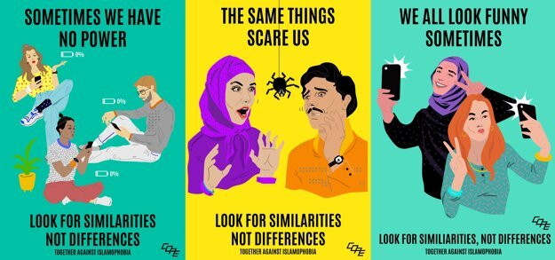 A series of colourful posters aims to bring Muslims and non-Muslims closer together.