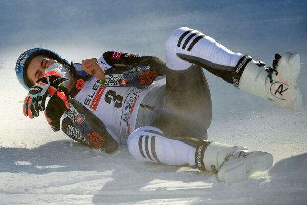 Petra Vlhová after winning the World Cup women's giant slalom in Jasná on Sunday, March 7.