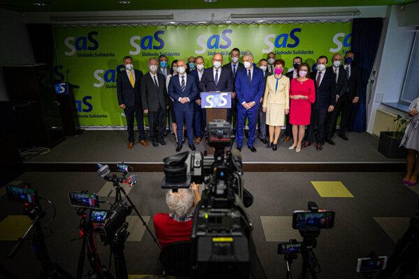 SaS wants PM Igor Matovič to leave his post.