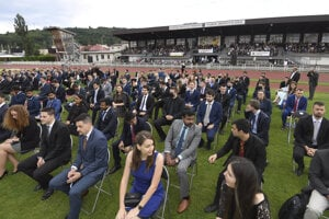 The Technical University of Košice held its graduation ceremony at an untraditional place - a stadium.