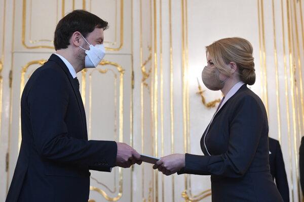 President Zuzana Čaputová appointed Eduard Heger the new prime minister on April 1.